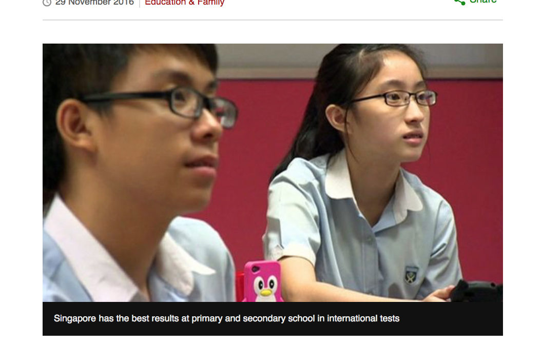 Singapore tops global education rankings